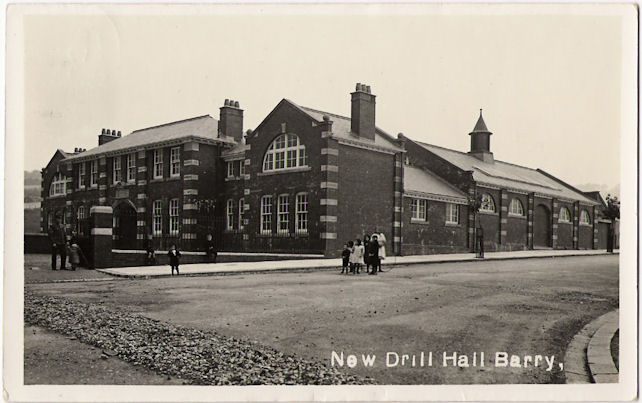 Postcard of Barry Drill Hall