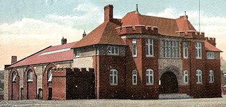 Postcard of Burslem drill Hall in 1912 - Click to enlarge