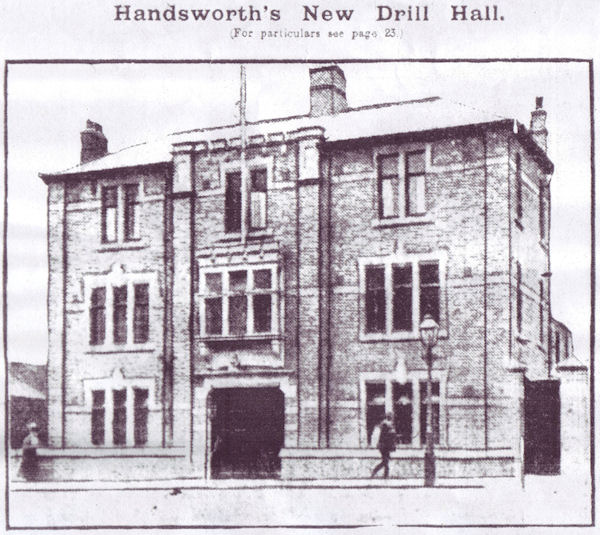 Photograph of Belgrave Drill Hall reproduced from The Birmingham Weekly Gazette, 1st August, 1914